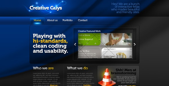 Creative Portfolio Template #04 HTML+CSS+PSD - Portfolio Creative
