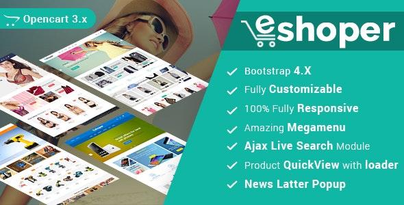 Eshoper - Multipurpose Best Opencart 3 Theme - Fashion OpenCart