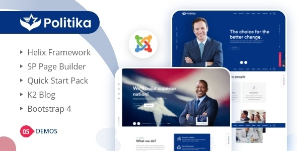 Politika - Political & Election Campaign Joomla Template - Political Nonprofit