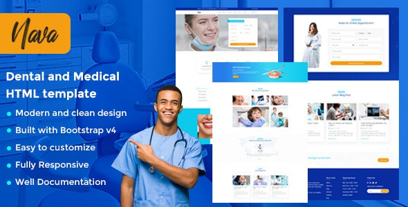 Nava - Responsive Multi Purpose & Clinic HTML Template - Health & Beauty Retail