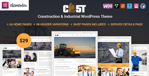 Cast - Construction & Industrial Responsive WordPress Theme - Business Corporate