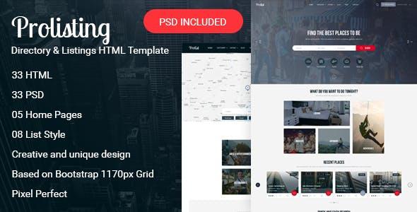 Prolisting - Directory & Listings HTML Template