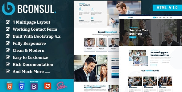 Bconsul - Consulting Finance HTML5 Template - Business Corporate