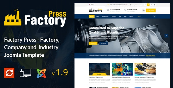 Factory Press - Industrial Business Joomla Template - Business Corporate