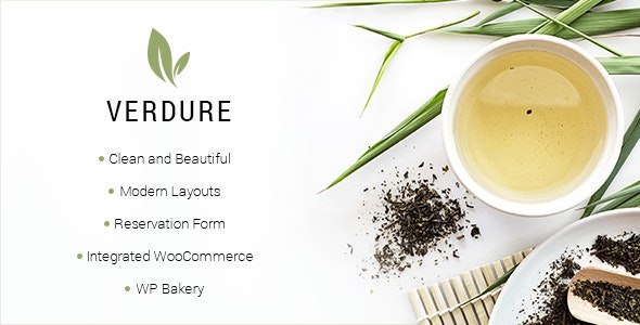 Verdure - Organic Tea Shop Theme - Food Retail