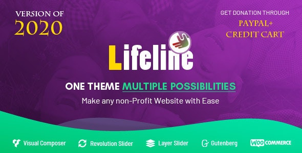 Lifeline - NGO, Fund Raising and Charity WordPress Theme - Charity Nonprofit