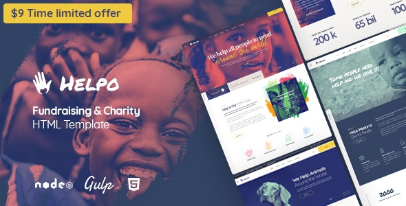 Helpo   Fundraising & Charity HTML Template - Charity Nonprofit