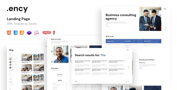 Ency - Landing Page HTML Template