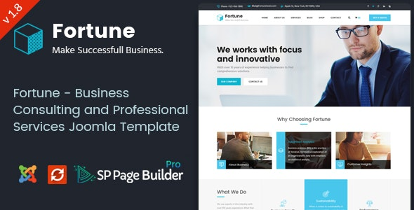 Fortune - Business Consulting and Professional Services Joomla Theme - Business Corporate