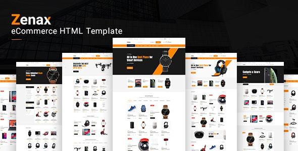 Zenax eCommerce HTML template - Shopping Retail