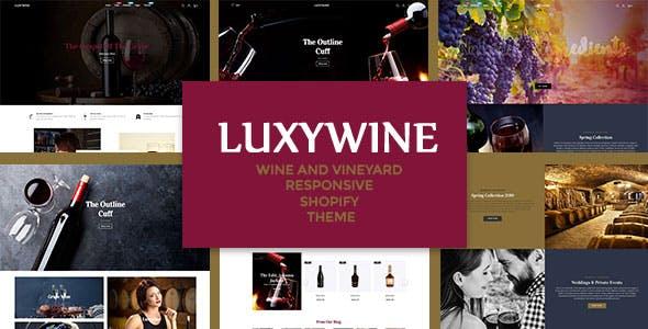 Luxywine - Wine & Vineyard Responsive Shopify Theme