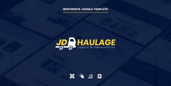 JD Haulage - Logistic & Transportation Services Joomla Template - Joomla CMS Themes