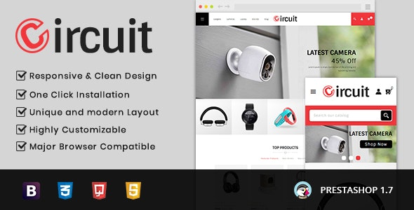 Circuit - Electronic Store Prestashop 1.7 Responsive Theme - Miscellaneous PrestaShop