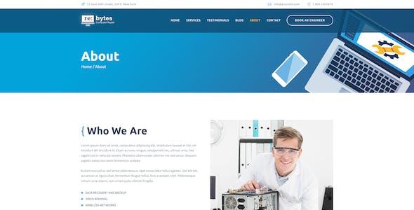 Rebytes | Electronics & Computer Repair Service PSD Template