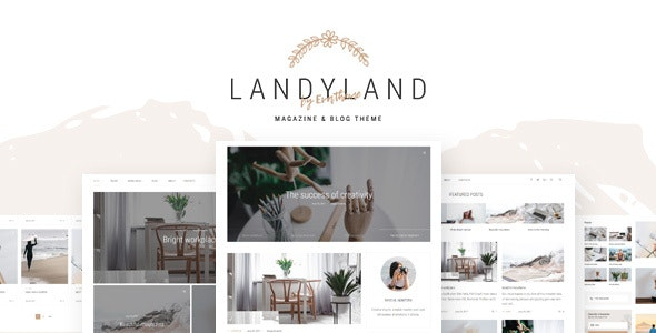 Landyland - Clean Blog Theme - Blog / Magazine WordPress