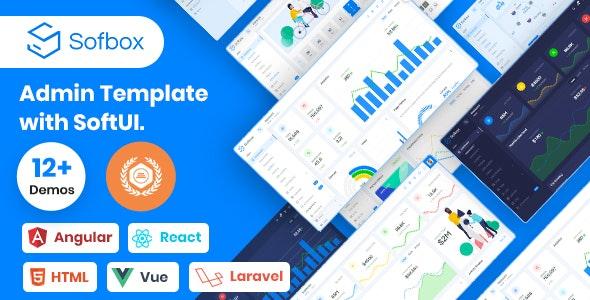Sofbox Admin - Vuejs, Laravel, Angular 9, React, HTML Admin Theme - Admin Templates Site Templates