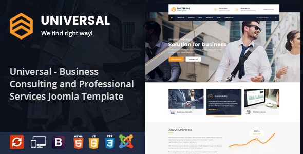 Universal - Responsive Consulting Business Joomla Template - Business Corporate