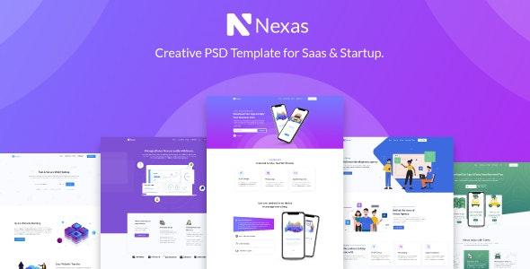 Nexas - Startups SaaS PSD Template - Technology PSD Templates