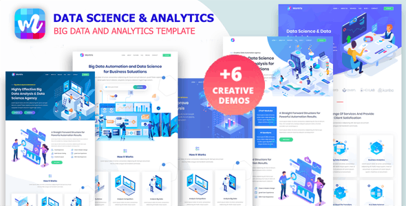 Montrix - Data Science & Analytics Template - Technology Site Templates