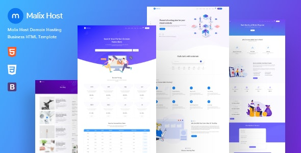 Malixhost – Web Hosting HTML Template - Hosting Technology