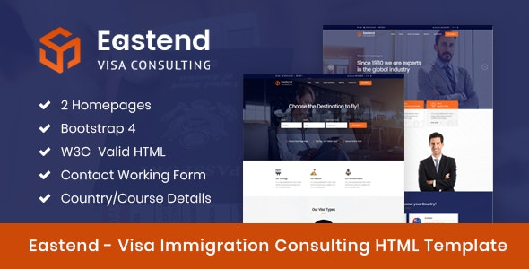 Eastend - Immigration Visa Consulting HTML Template - Site Templates