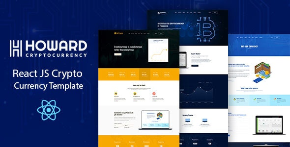 Howard - React JS Crypto Currency Template - Software Technology