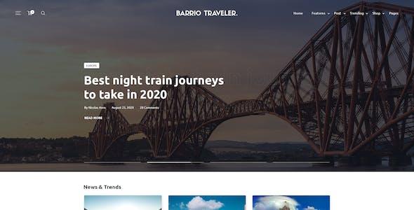 Barrio - Modern PSD Blog Template