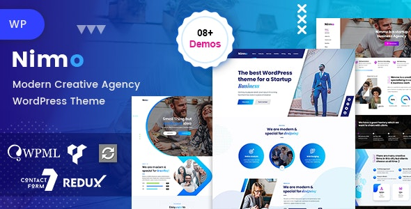 Nimmo - One page WordPress - Creative WordPress