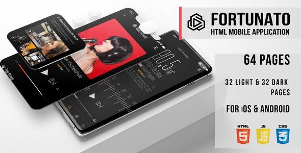Fortunato - Radio HTML Mobile Application - Mobile Site Templates