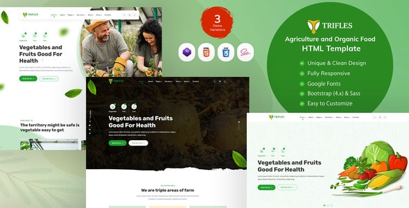 Trifles - Agriculture & Organic Food HTML Template - Food Retail