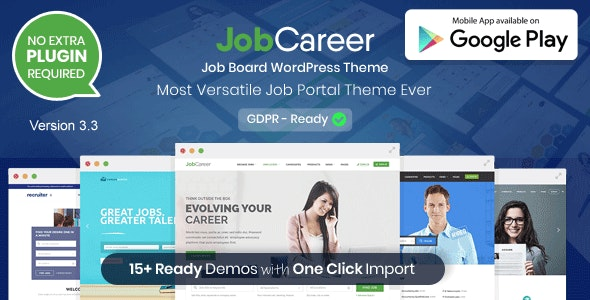 JobCareer | Job Board Responsive WordPress Theme - Directory & Listings Corporate