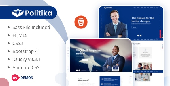 Politika - Political & Election Campaign HTML Template - Political Nonprofit