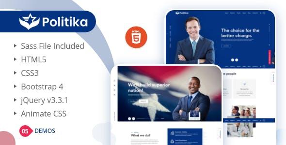 Politika - Political & Election Campaign HTML Template