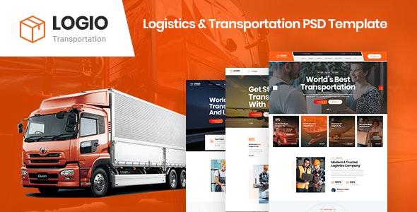 Logio - Logistics & Transportation PSD Template - PSD Templates