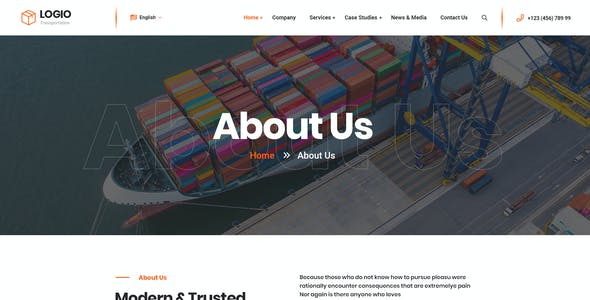 Logio - Logistics & Transportation PSD Template