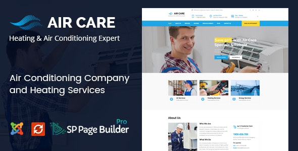 Air Care - Joomla Template for Heating and Air Conditioning Maintenance Services - Business Corporate