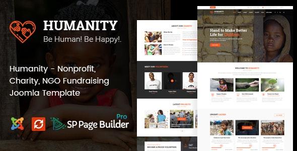 Humanity - Nonprofit, Charity, NGO Fundraising Joomla Template - Charity Nonprofit
