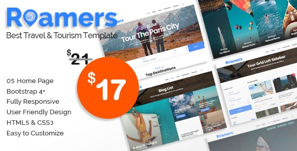 Roamers - Travel and Tour HTML Template