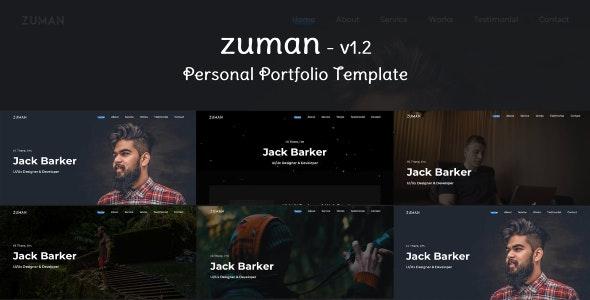 Zuman - Creative Personal Portfolio - Portfolio Creative