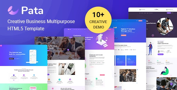 PATA: Corporate Business Agency Bootstrap 4 Template - Creative Site Templates