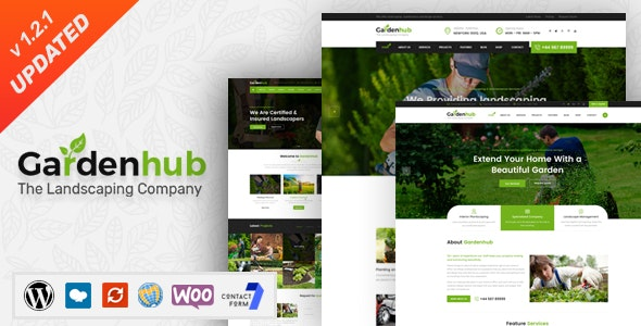 Garden HUB - Lawn & Landscaping WordPress Theme - Business Corporate