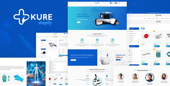 Corona Medical Shop Shopify Theme - Kure