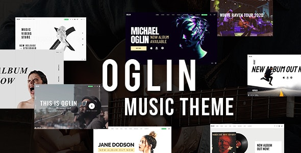 Oglin - A Clean and Simple Music WordPress Theme with AJAX Navigation - Music and Bands Entertainment