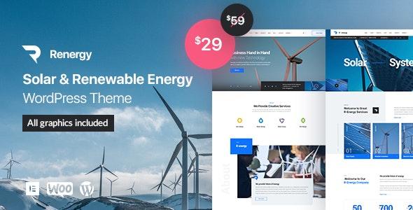 Renergy - Solar and Renewable Energy WordPress Theme - Business Corporate
