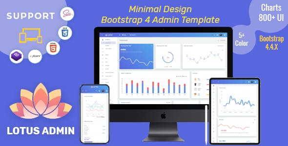 Lotus - Responsive Admin Dashboard Template Web App
