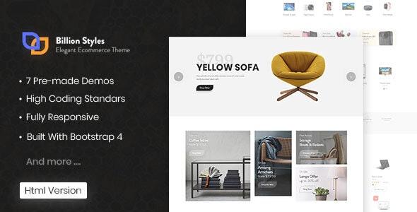 Billion Styles - HTML eCommerce Template - Site Templates