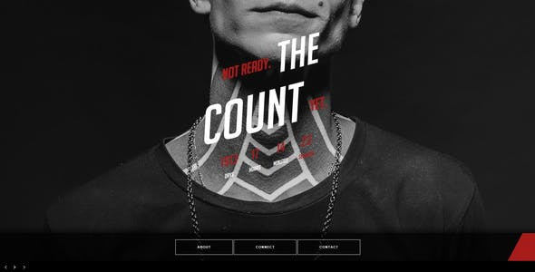 The Count || Responsive Coming Soon Page