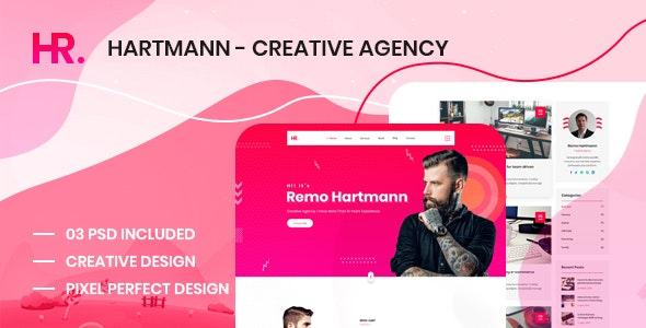 Hartmann - Personal Portfolio Creative Agency PSD Template - Business Corporate