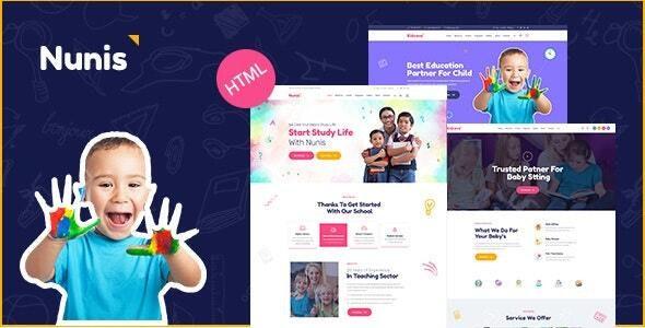 Nunis - Day Care & Kindergarten HTML Template - Children Retail