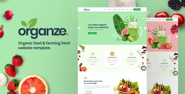 OrganZe   Organic Food & Farming HTML Template - Food Retail